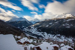 The Val d'Anniviers Stock Photo
