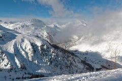 Val d ` Isère ośrodek narciarski w Francja Obrazy Royalty Free