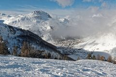 Val d ` Isère ośrodek narciarski w Francja Fotografia Royalty Free