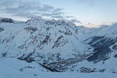 Val d ` Isère od Bellevarde Stawia czoło Obraz Royalty Free