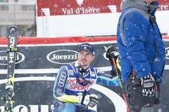 Val d`Isere Men`s Giant Slalom 2018. 08 Dec 2018 Podium presentation Marcel Hirscher of Austria wins Val d`Isere men`s Giant Slalom Audi FIS Alpine Ski World Cup stock images