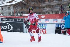 Val d`Isere Men`s Giant Slalom 2018. 08 Dec 2018 Podium presentation Marcel Hirscher of Austria wins Val d`Isere men`s Giant Slalom Audi FIS Alpine Ski World Cup stock photos