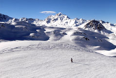 Val d Isere Ski station France Stock Photos