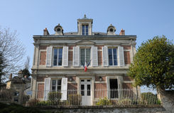 Val d Oise, the city hall of Wy dit Joli Village Stock Images