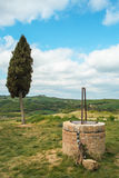 Val d ` Orcia风景  免版税库存照片