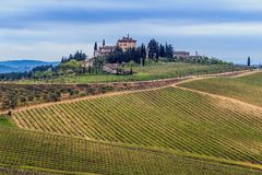 Val d'Orcia farm. Royalty Free Stock Photography