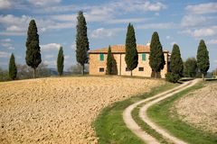Val d'orcia landscape, tuscany Stock Photography
