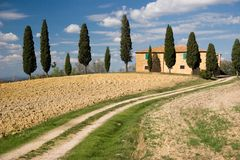 Val d'orcia landscape, tuscany Royalty Free Stock Images