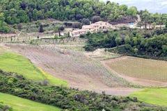 Val-d& x27; Orcia-Landschaft lizenzfreies stockbild