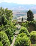 Val d' Orcia landskap royaltyfri foto