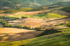 Val d'Orcia Natural Park inscribed on the list of UNESCO in the Royalty Free Stock Photo