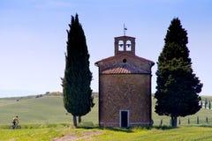 Val d& x27; Orcia, Siena, Toscanië, Italië - Excursie in Bergfiets royalty-vrije stock fotografie