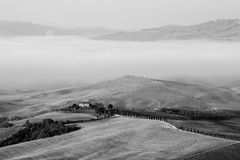Val d ` Orcia, Tuscany, Italia Zdjęcia Stock