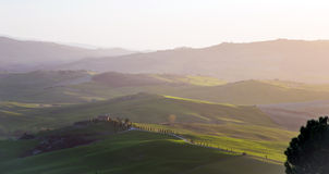 Val d'Orcia in Tuscany Stock Photos