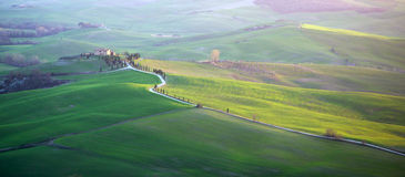 Val d'Orcia in Tuscany Royalty Free Stock Photos