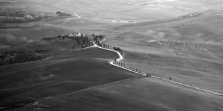 Val d'Orcia in Tuscany Royalty Free Stock Photography