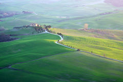 Val d`Orcia in Tuscany Royalty Free Stock Photo