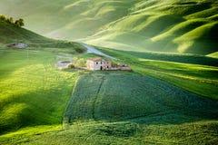 Val d ` Orcia, Tuscany, Włochy zdjęcia royalty free