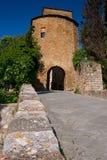 Val-d& x27; Orcia, Siena, Toskana, Italien - Exkursion in der Mountainbike Stockfoto