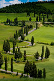 Val d'Orcia, Siena, Tuscany, Italy - Excursion in Mountain Bike Stock Images