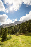 Val de Vaiolét, dolomías, Italia Fotos de archivo