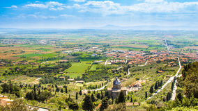 The Val di Chiana, an alluvial valley in Tuscany, Italy Royalty Free Stock Images