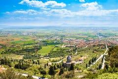 Val di Chiana, ein alluviales Tal in Toskana, Italien stockfoto