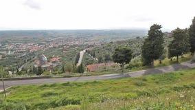 Val di chiana overview. From Cortona; Tuscany, Italy stock video