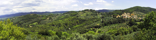 Val di Cornia-Toscânia-panorama Imagem da cor Imagens de Stock Royalty Free