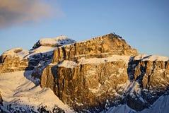 val di fassa意大利的山 免版税库存照片