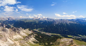 Val di Fassa aerial view Royalty Free Stock Photos