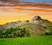 Val di Fassa, alpi dell'Italia Immagine Stock