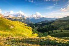 Val Di Fassa, dolomit góry, Włochy Obraz Stock