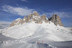 Val di Fassa. Dolomites, Italy Royalty Free Stock Photos