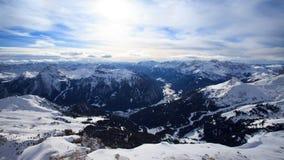 Val di Fassa valley from Sella Rondo Royalty Free Stock Photos