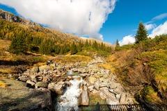 Val di Fumo - Adamello特伦托意大利 免版税库存图片