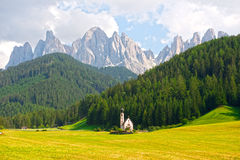 Val Di Funes in  Dolomites Stock Photo