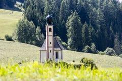 Val di Funes i dolomity, Włochy zdjęcia stock
