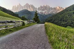 Val di Funes - Santa Maddalena Stock Photo