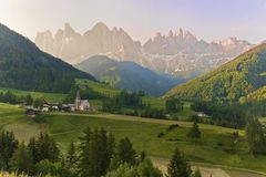 Val di Funes - Santa Maddalena Royalty Free Stock Photos