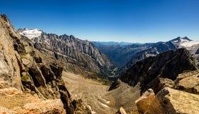 Val di Genova del pico de Presena Imagenes de archivo