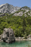 Val di Mello, Val Masino, la Valteline, Sondrio, Italie, l'Europe Photos stock