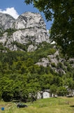 Val di Mello, Val Masino, Valtelina, Sondrio, Italia, Europa Foto de archivo
