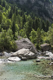 Val di Mello, Val Masino, Valtellina, Sondrio, Италия, Европа Стоковые Изображения