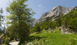 Val di Mello Val Masino, Valtellina, Sondrio, Italien, Europa Royaltyfri Foto
