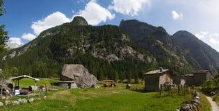 Val di Mello Val Masino, Valtellina, Sondrio, Italien, Europa Arkivfoto