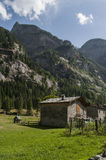 Val di Mello Val Masino, Valtellina, Sondrio, Italien, Europa Royaltyfria Foton