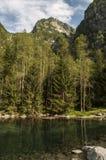 Val di Mello Val Masino, Valtellina, Sondrio, Italien, Europa Arkivbilder
