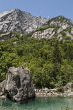 Val Di Mello, Val Masino, Valtellina, Sondrio, Włochy, Europa Fotografia Royalty Free