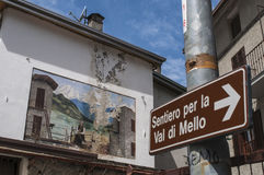 Val Di Mello, Val Masino, Valtellina, Sondrio, Włochy, Europa Zdjęcia Stock